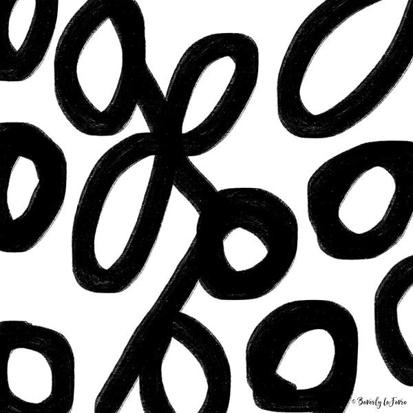 ink strokes modern print