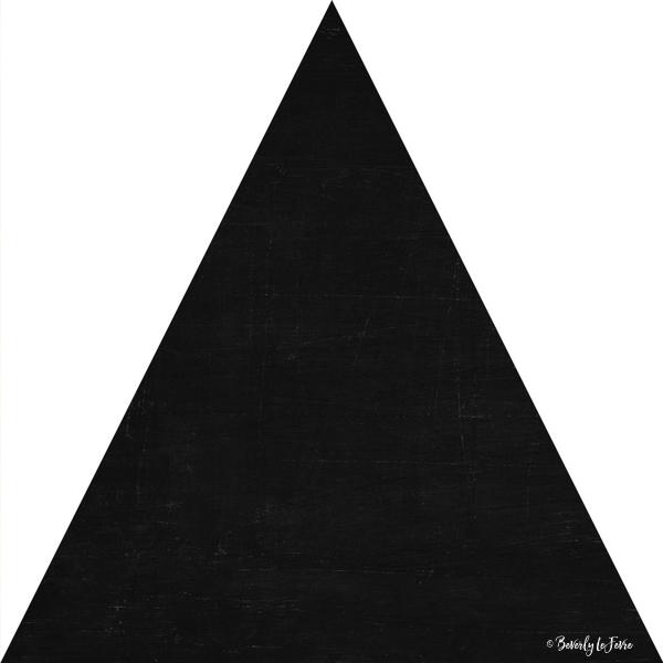 mod triangles - black and white print