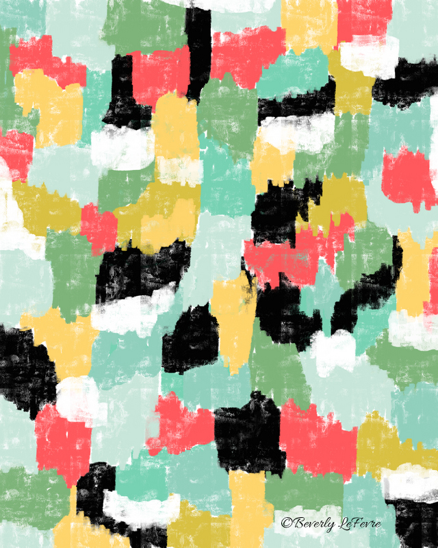 assemble - abstract art print