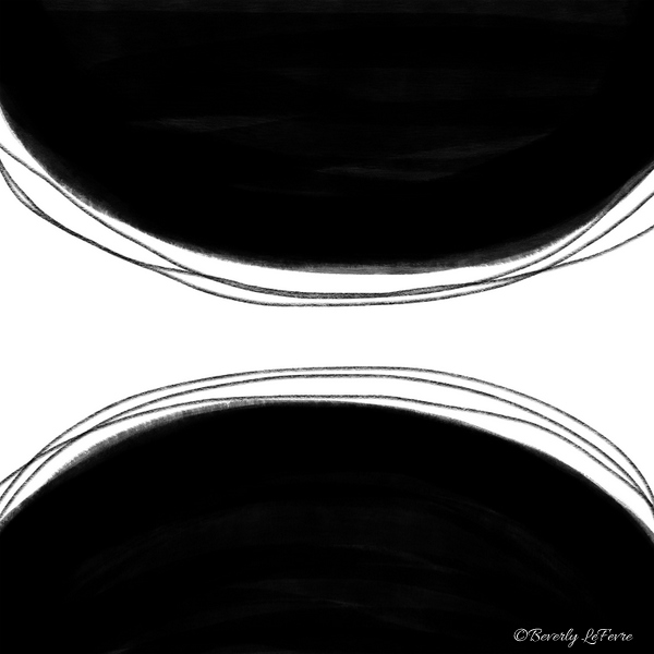 double abstract art print