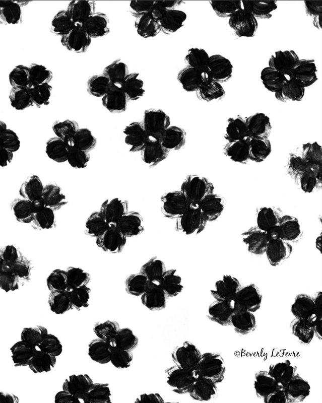 ink flowers print