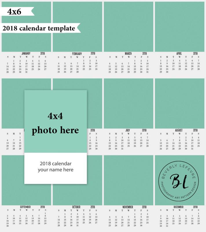 2018 4x6 calendar templates beverlylefevre