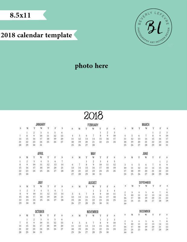 2018 8.5x11 calendar template beverlylefevre