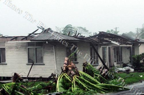 A damaged home in Rakiraki during Tropical cyclone Evan in 2012. Picture: Supplied