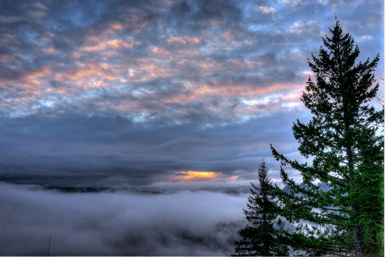 Sandy River Foggy Sunrise | 365 Project | Feb 17th, 2013  Downloads |  Desktop  |  iPad