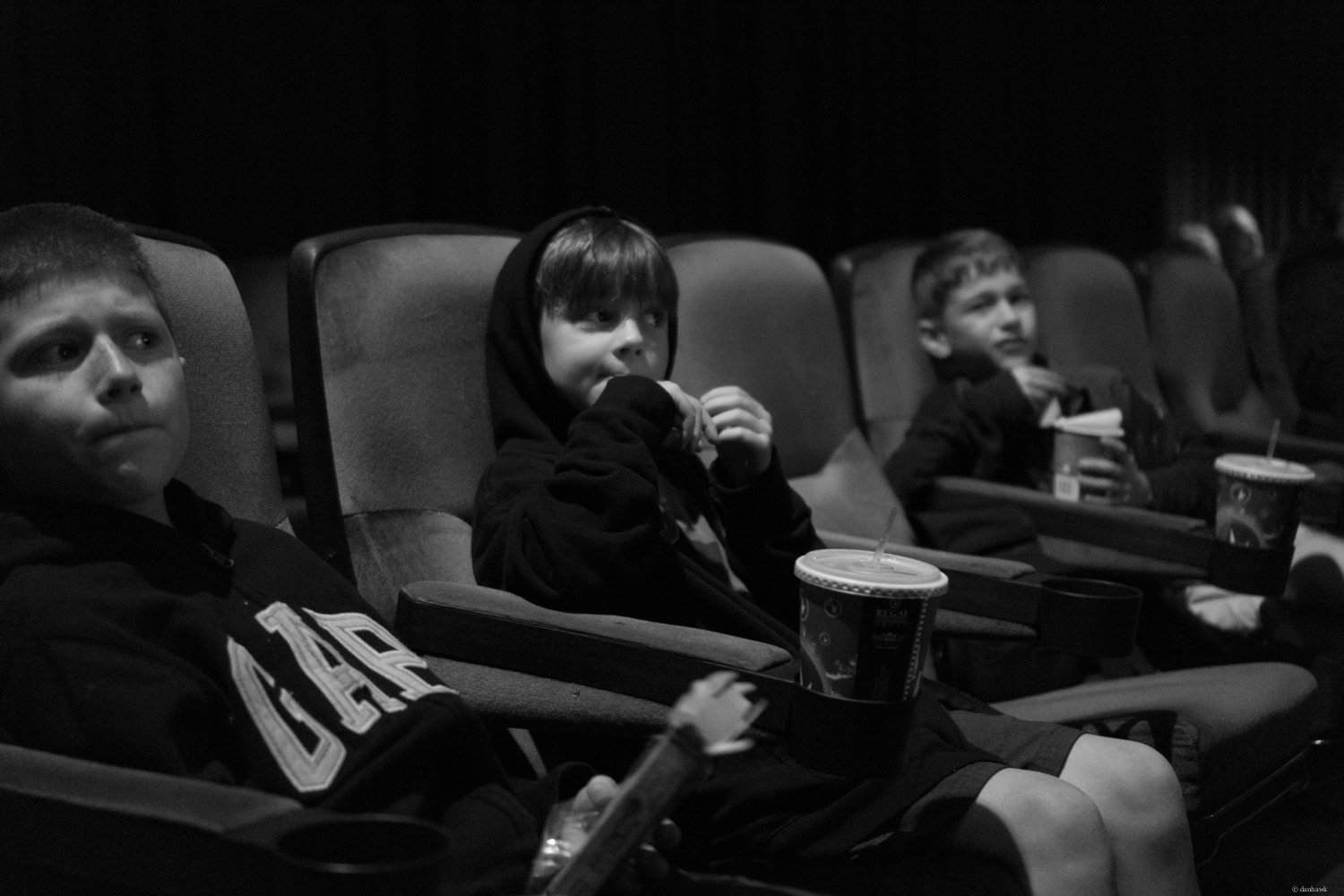 Dudes at the Movies | 365 Project | August 25th, 2013 | 35mm, f/1.8, ISO 3200, 1/8