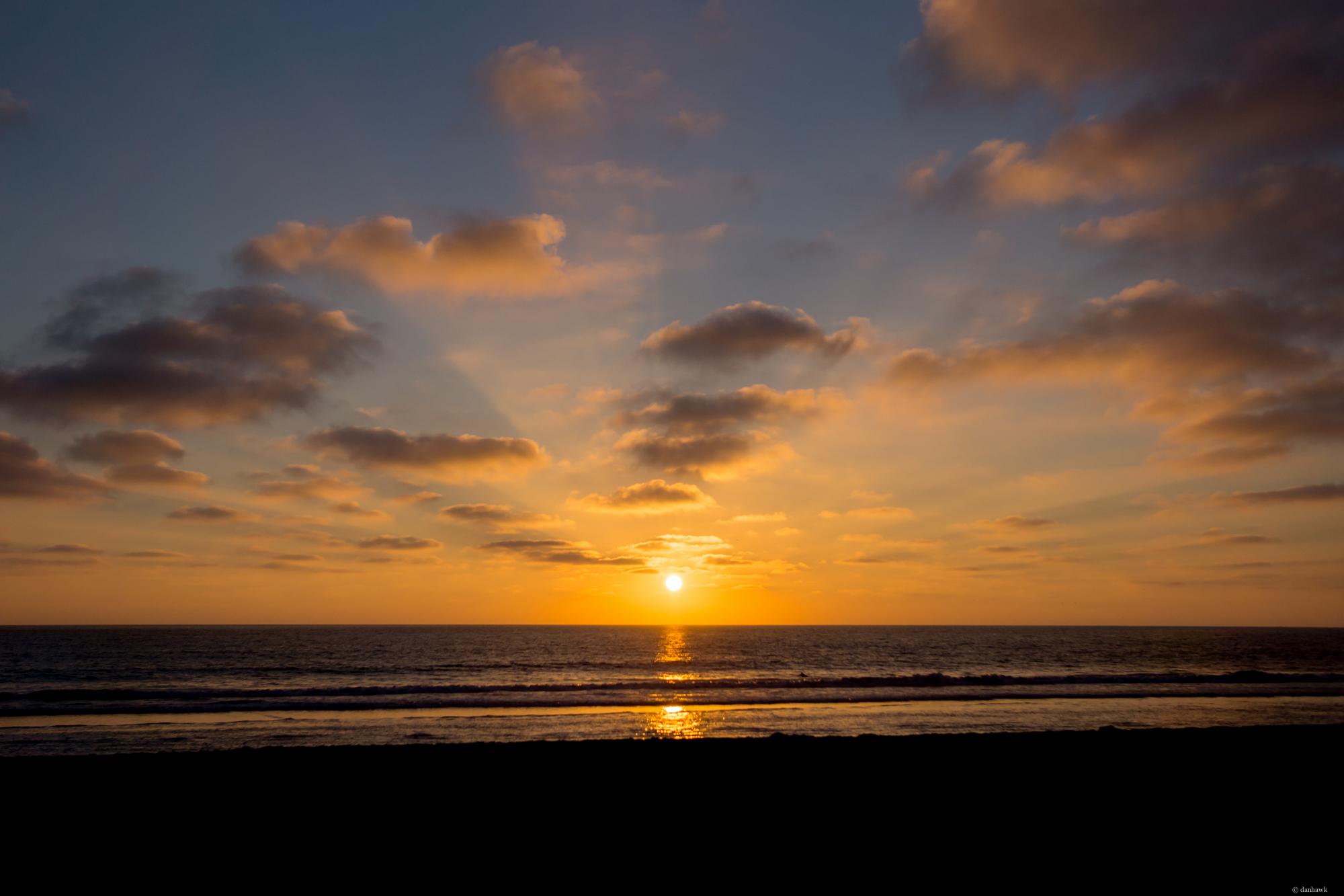 Oceanside Sunset   24mm, f/3.2, ISO 100, 1/4000
