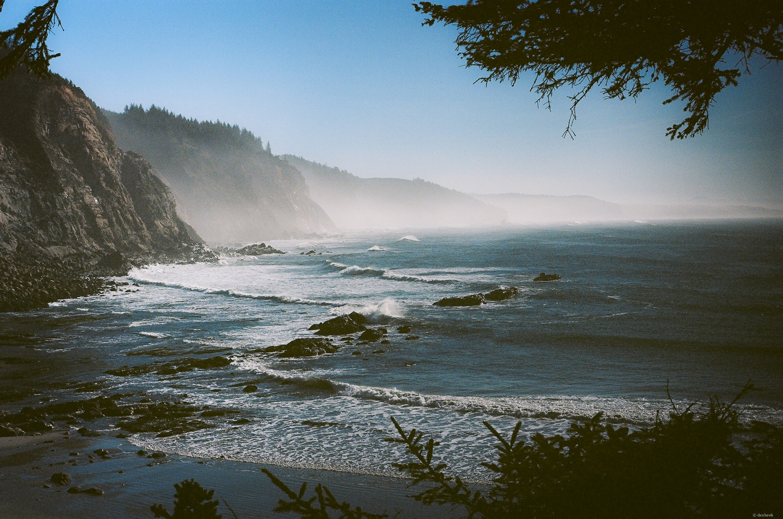 Simpson Beach | 50mm, Ektar 100, Olympus OM-1