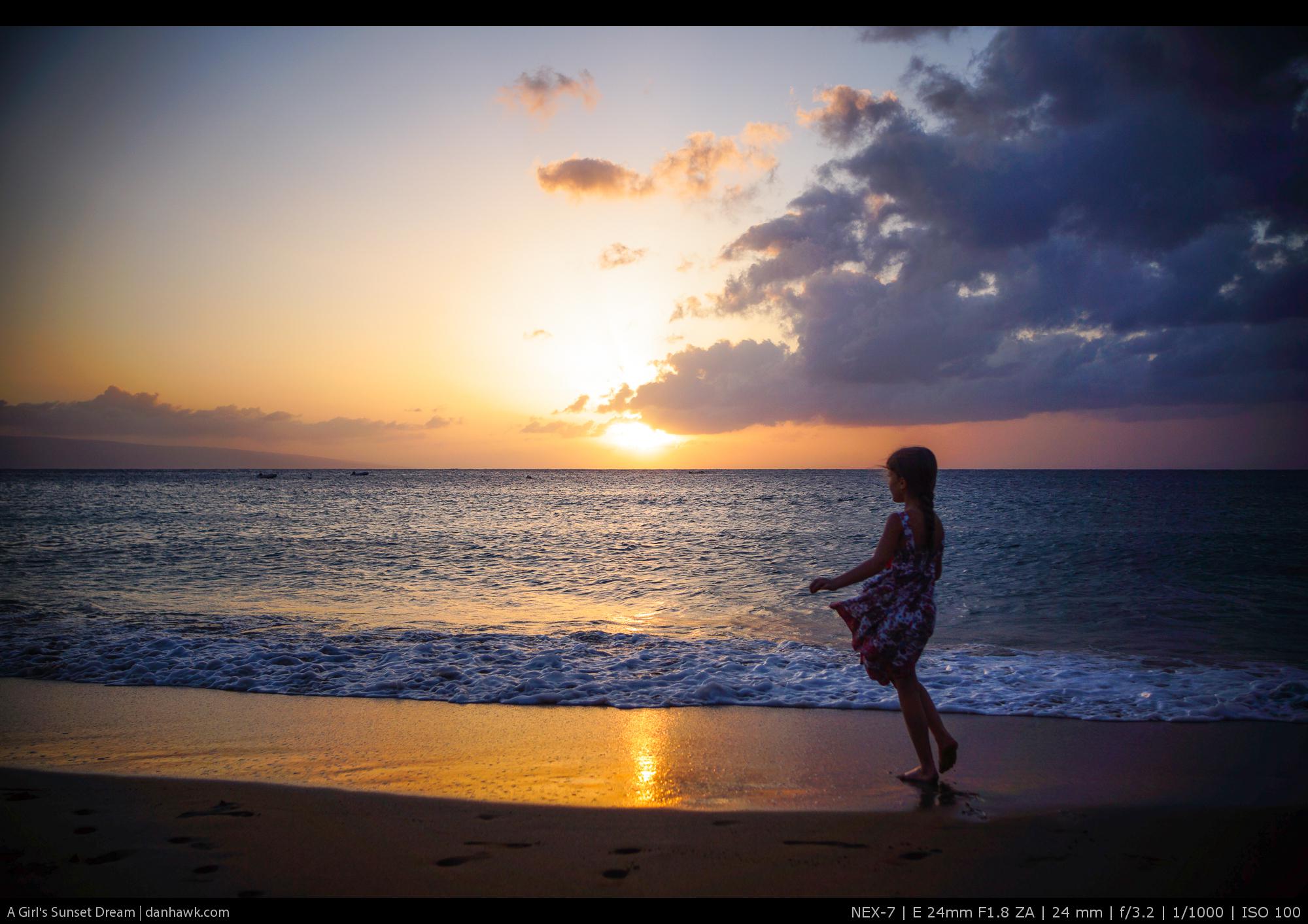 A Girl's Sunset Dream