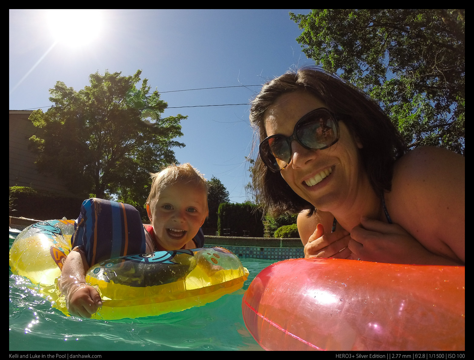 Kelli and Luke in the Pool