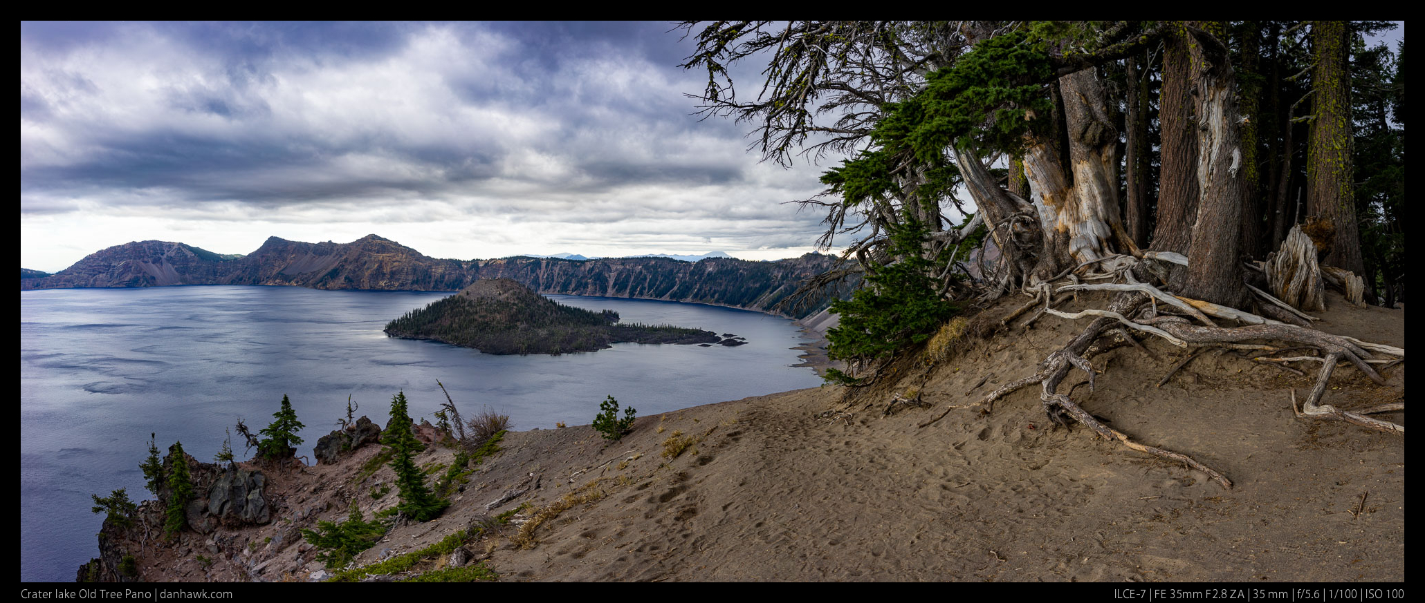 Crater lake Old Tree Pano