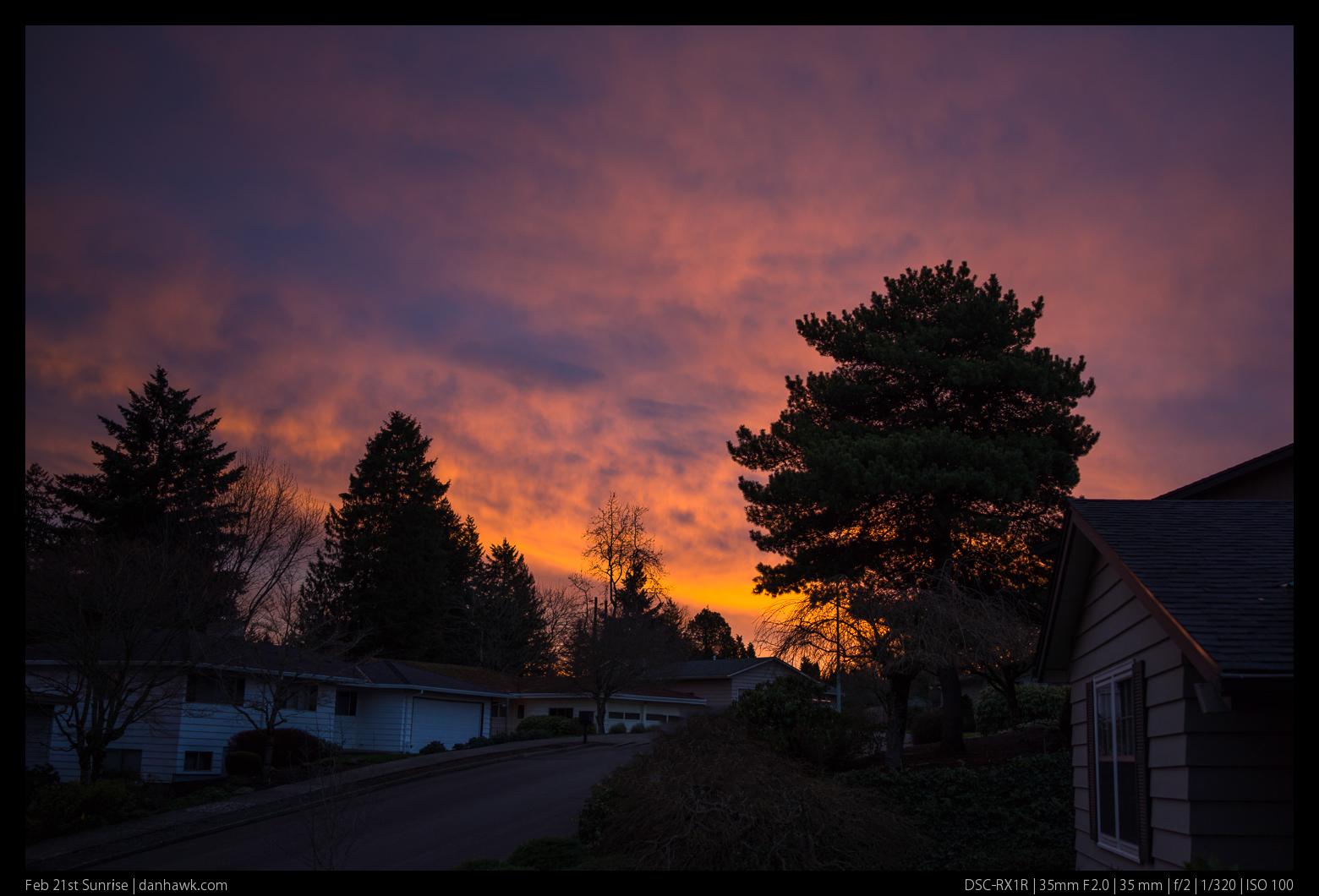 Feb 21st Sunrise
