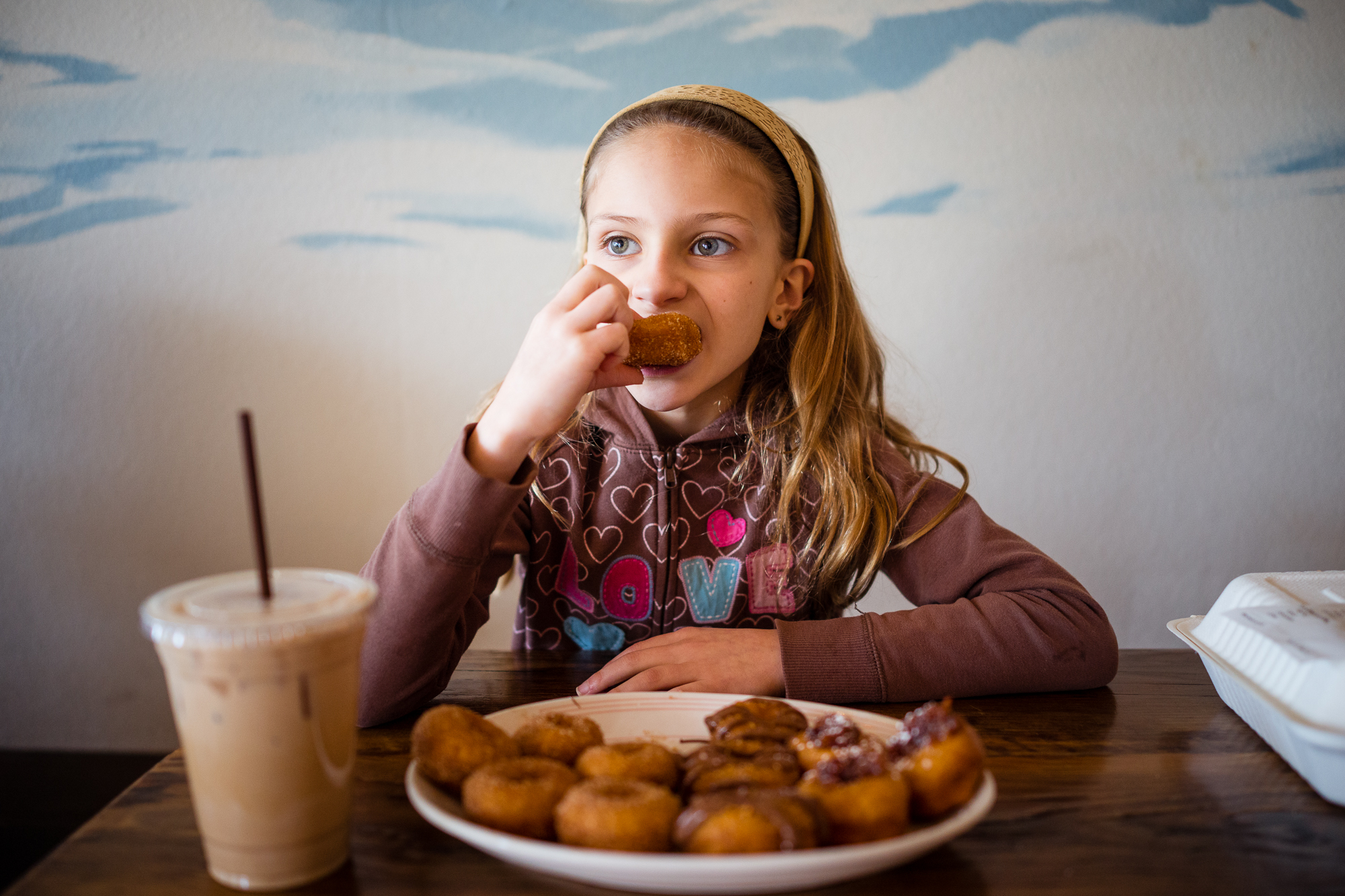 Girl and Donuts