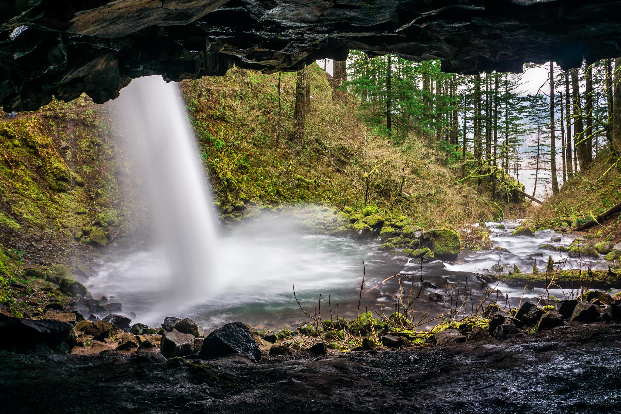 Behind Ponytail Falls