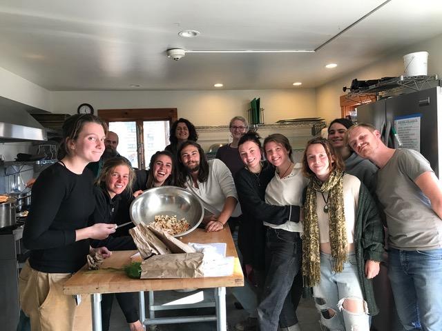 Fall Wildcrafting Class, Green Mountain College 2018