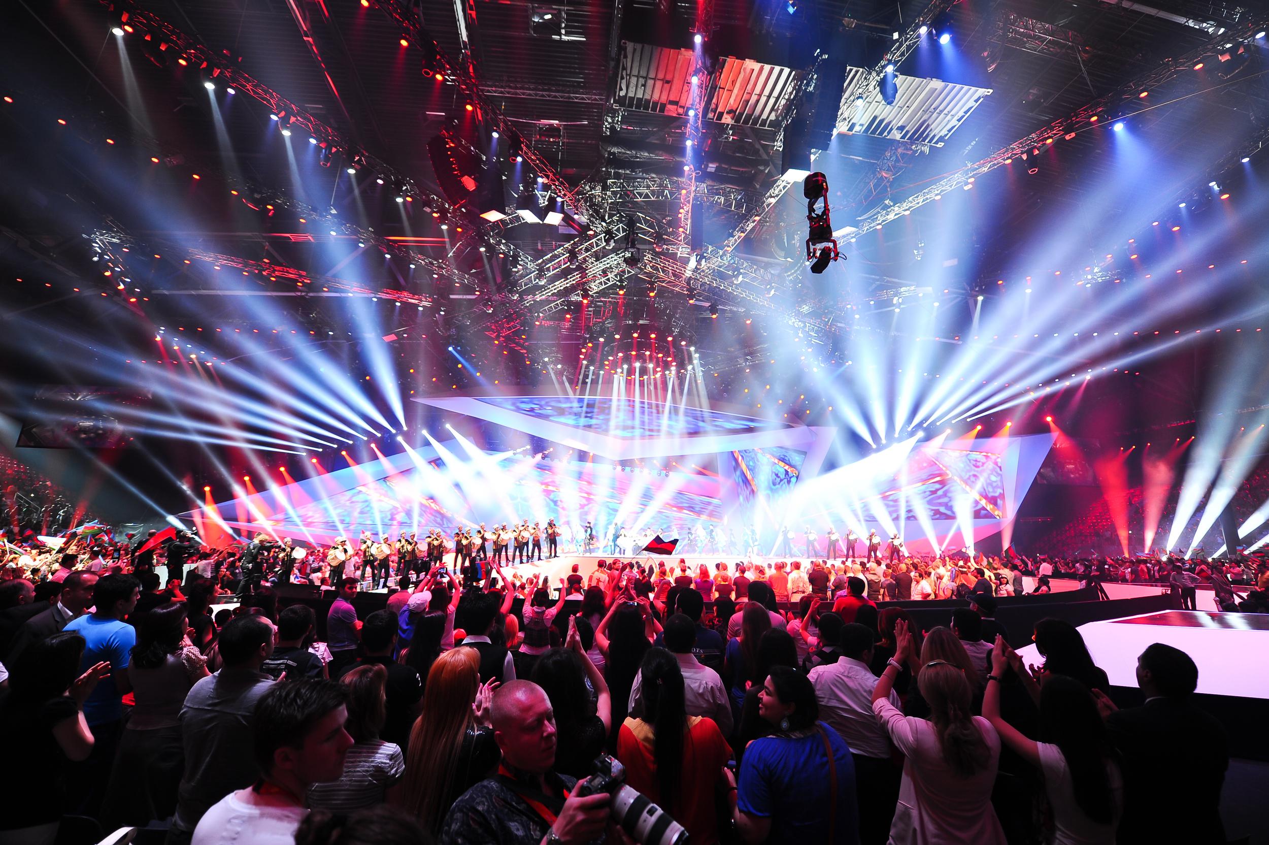 Eurovision stage ©wikimedia