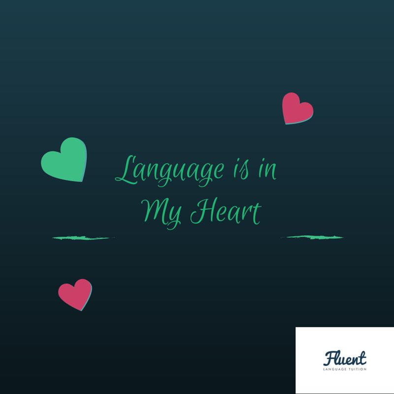 language is in my heart
