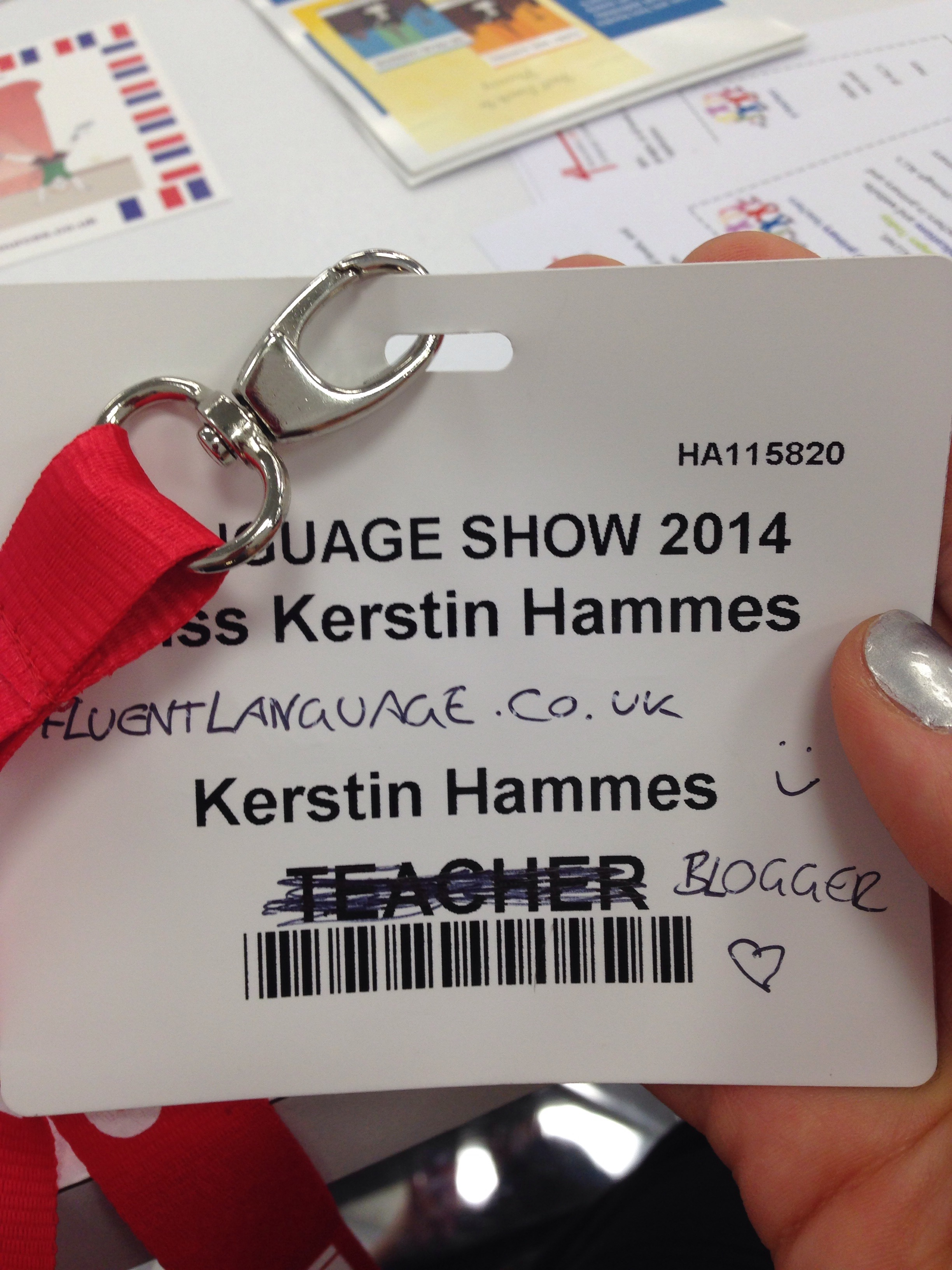 "I innovated my badge because everyone kept asking me which ""Key stage"" I'm at. Key stage life!"