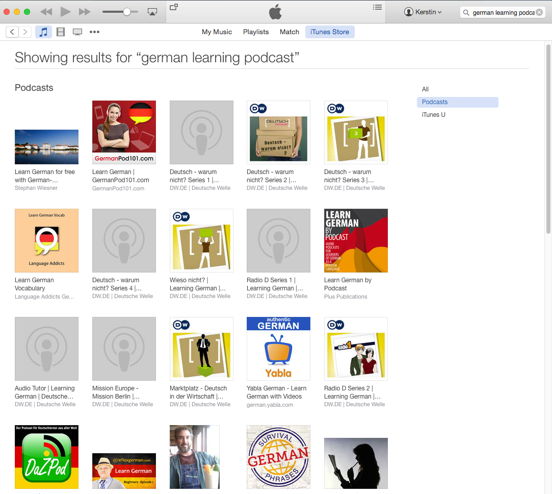 german podcasts in itunes