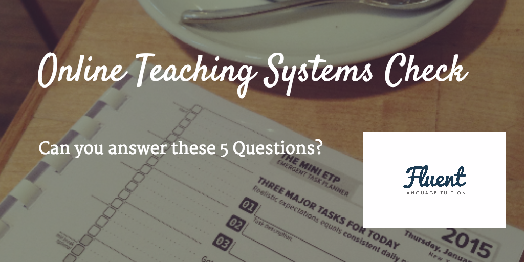 online teaching systems check