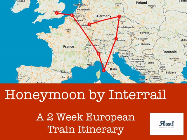 european train itinerary