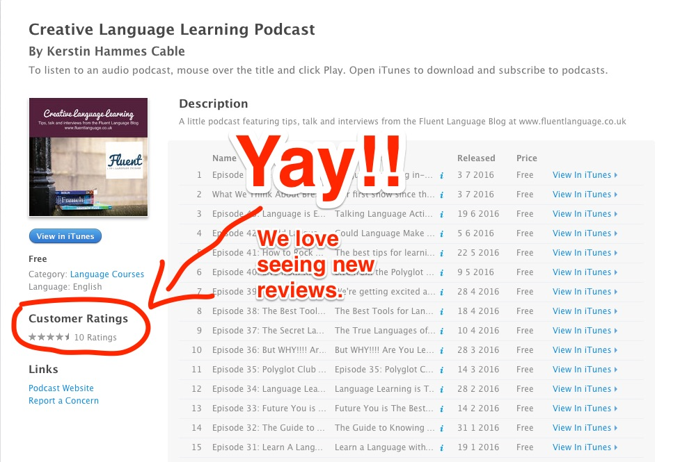 Creative Language Learning Podcast review