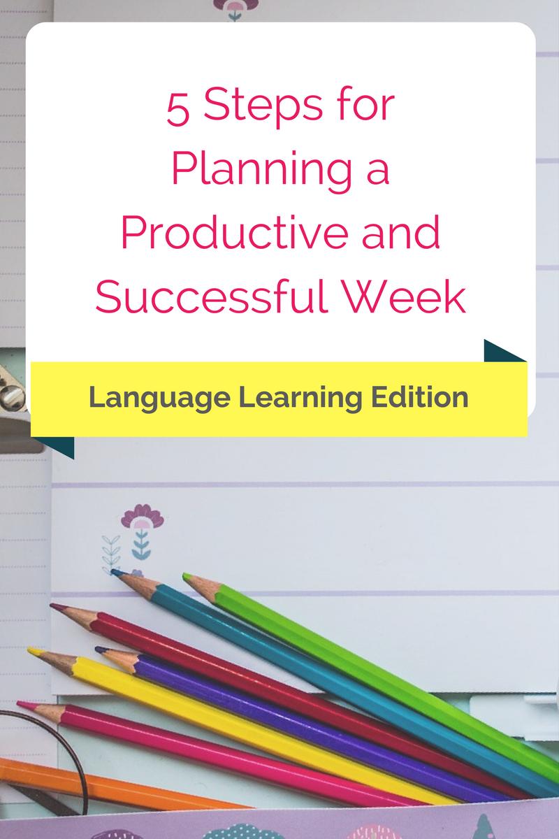 planning week