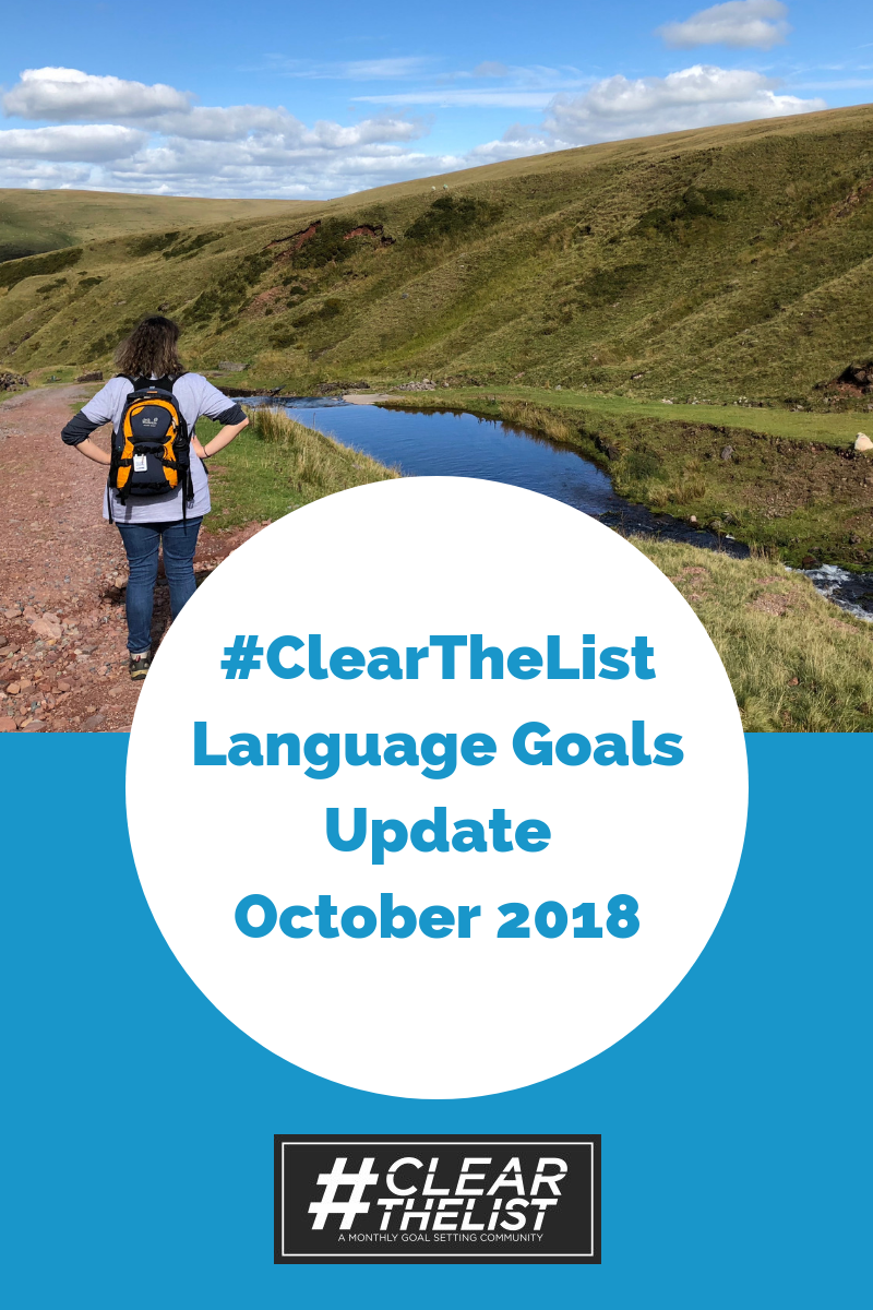 clear the list language goals october 2018