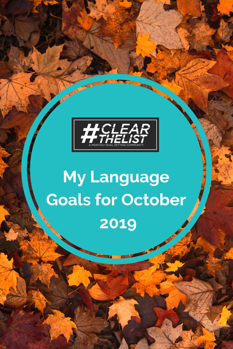 Clear the List October 2019: My italki Speaking Challenge Plans