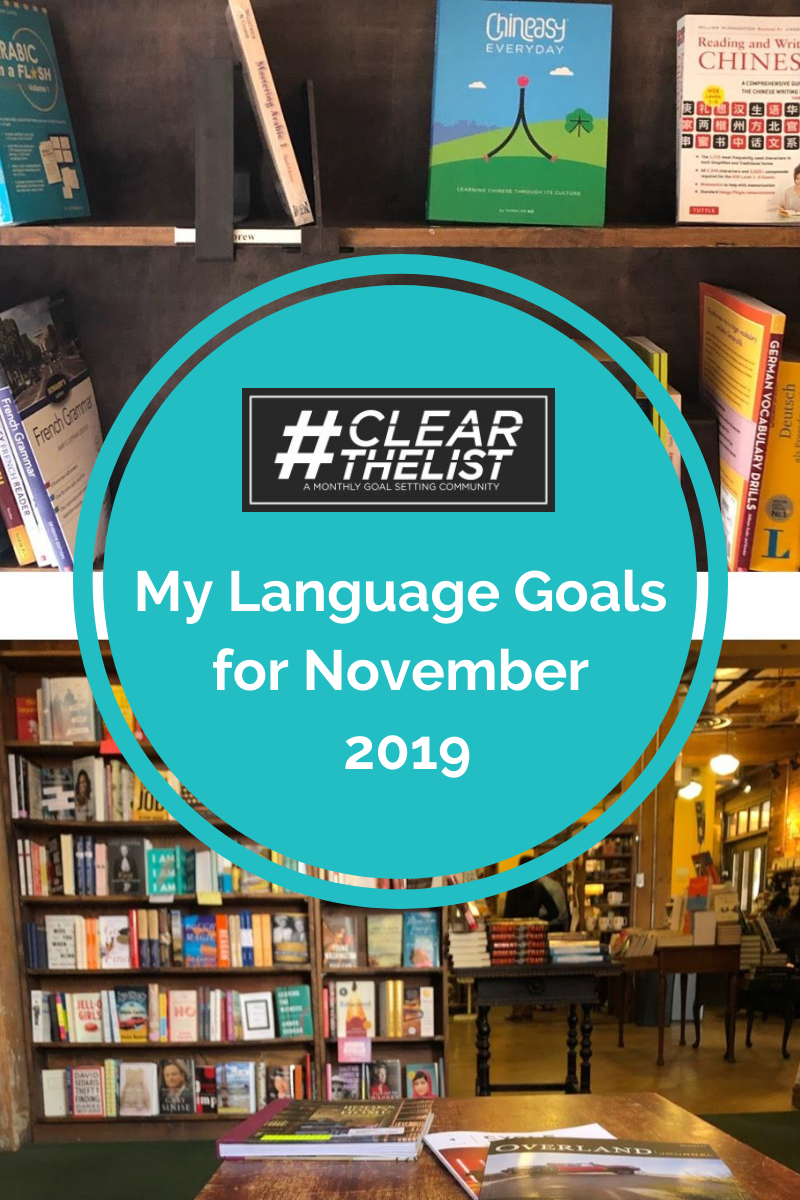 Clear the List November 2019: No-English Lessons as a Beginner?!