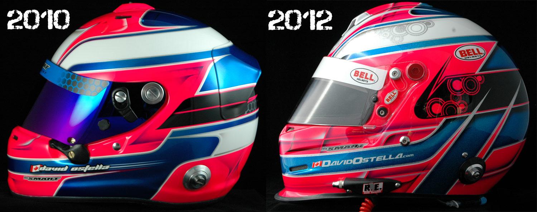 Helmets for David Ostella.