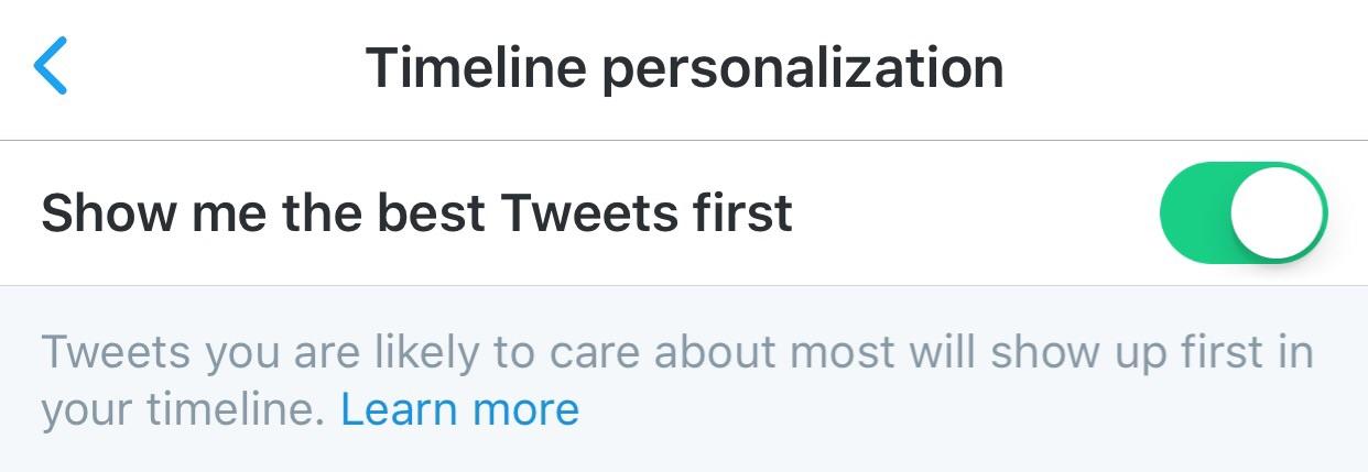 "Twitter's ""Timeline Personalization"""