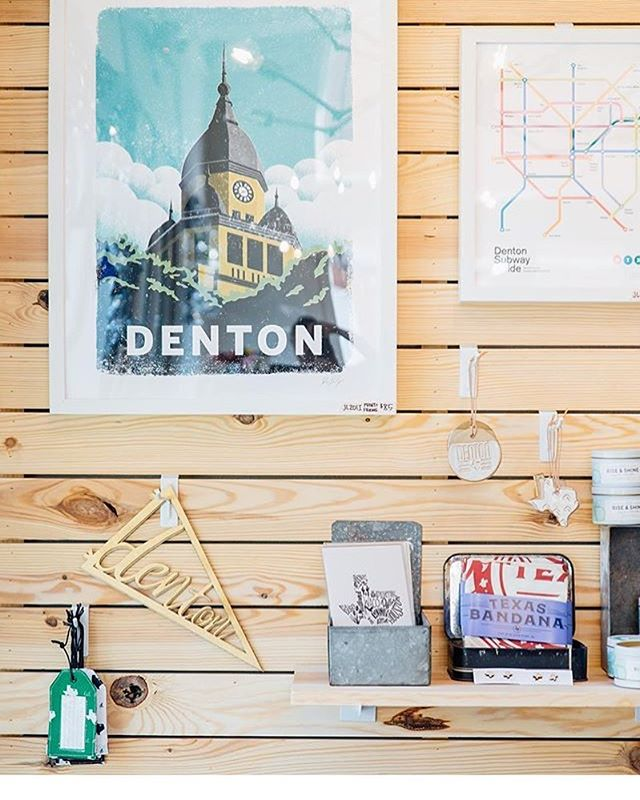 The weather in Denton today is as light and breezy as this pretty photo from @dimehandmade!