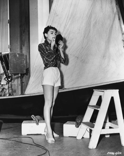 Audrey on the set of Sabrina.jpg