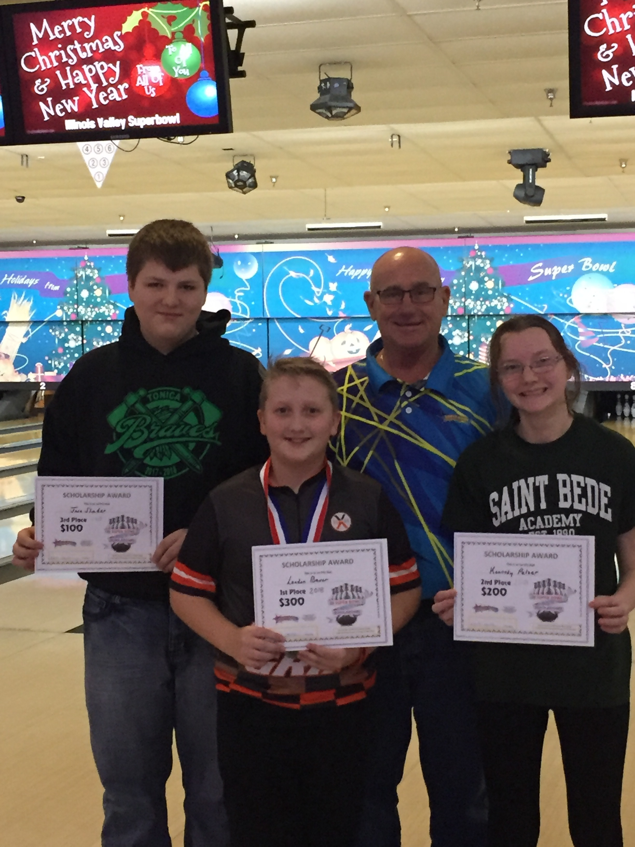 12 and over L - R: Jase Studer, Landon Bauer, Bob Stubler and Kennedy Pelzer