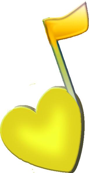 Yellow Music Note