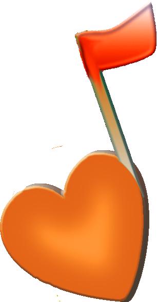 Orange Music Note