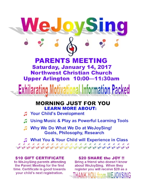 THE MEETING IS FREE!!   FREE FOR WEJOYSING FAMILIES & FRIENDS!!