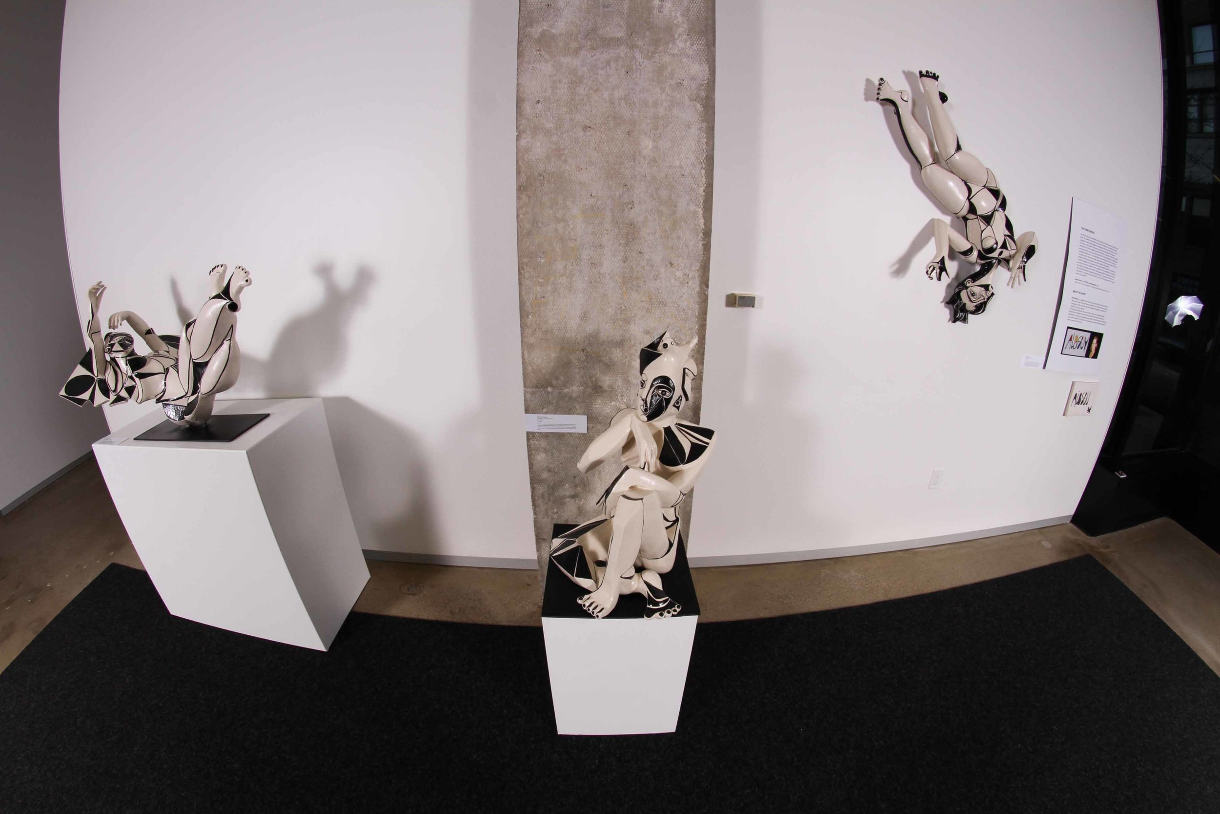 Installation of The Three Graces at BNIM