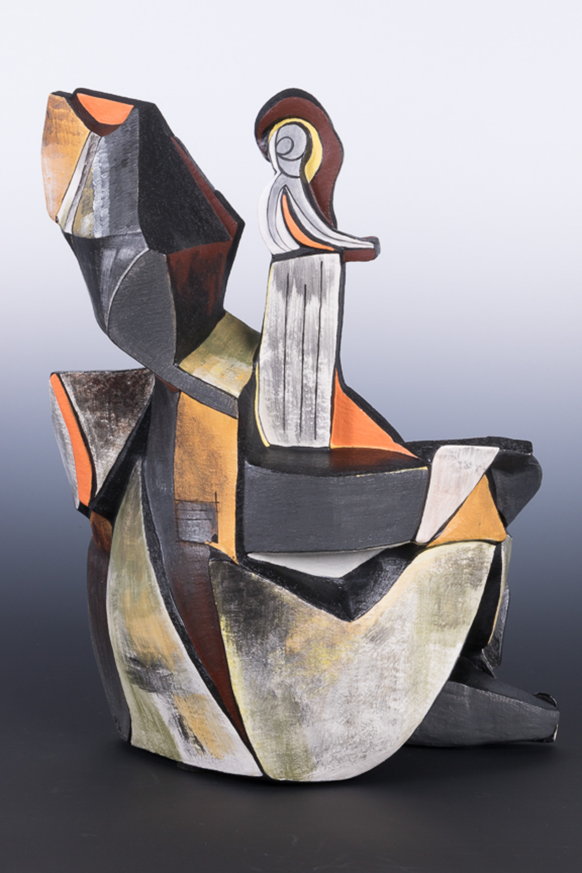 Woman Playing the Bass - backside