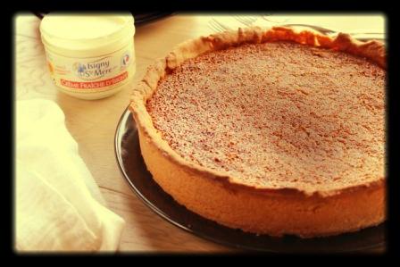 A rustic treacle tart - dedicated to Wendy's memories of home...