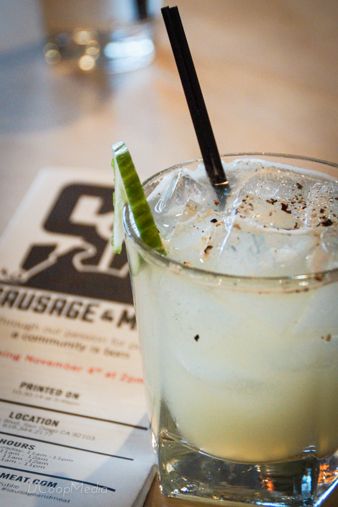 """""""West Coast East Side"""" - gin, lime, cucumber, smoked salt & cracked pepper"""