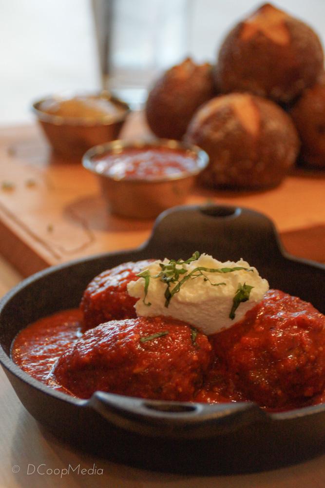 Venison meatballs with house-made marinara