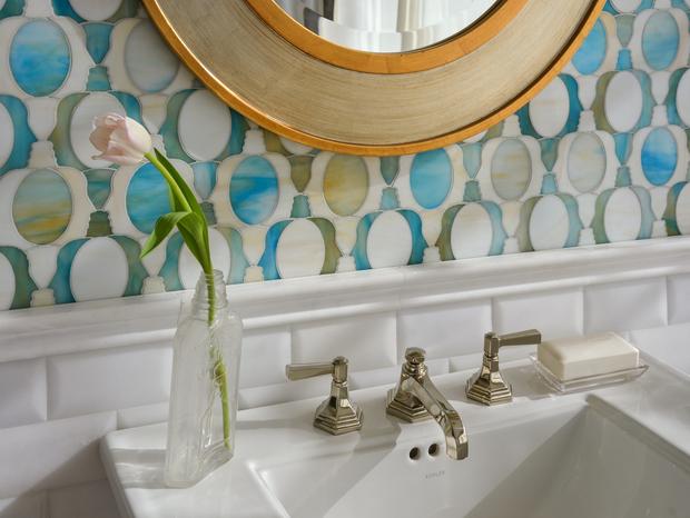Janus Petite in Aquamarine & Quartz Jewel Glass, courtesy New Ravenna