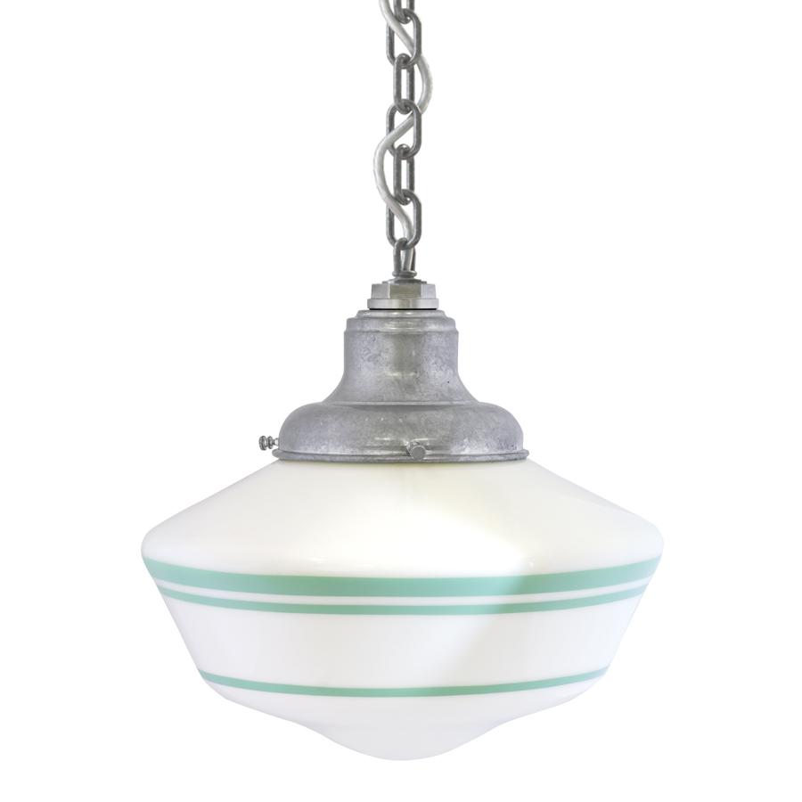 Chain Hung Pendant in Jadite, Courtesy Barn Light Electric