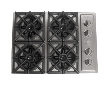 "30"" Cooktop, Courtesy BlueStar"