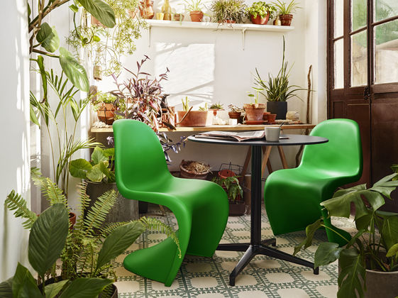 """Panton Chair in Limited Edition Color """"Summer Green"""", Courtesy Vitra"""