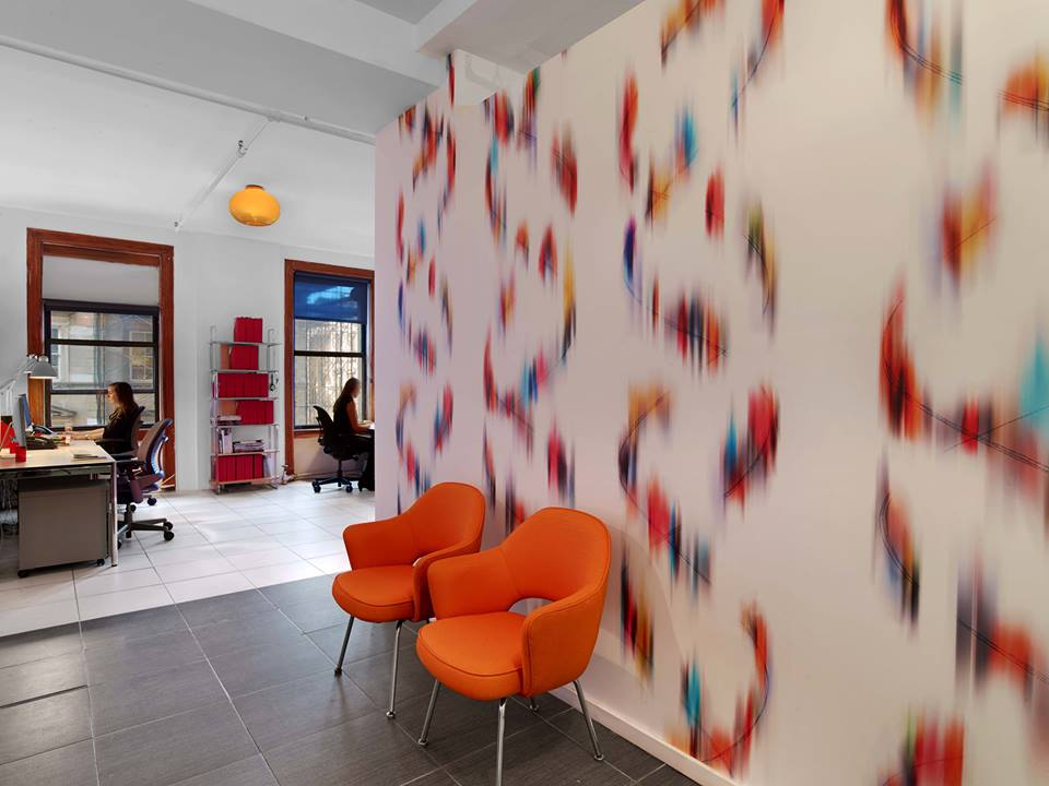 Chroma on display in the New York offices of Novità Communications. Courtesy Trove