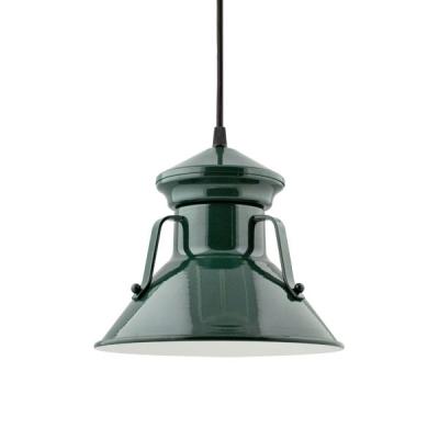 Colby Pendant in Dark Green. Courtesy Barn Light Electric.
