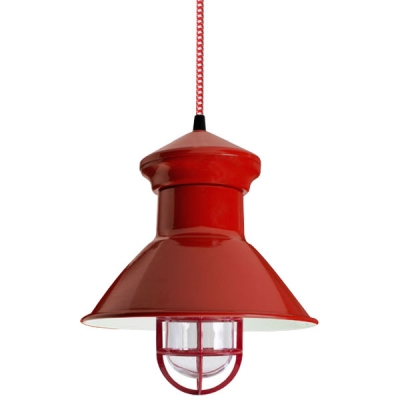Cooper Pendant in Red. Courtesy Barn Light Electric.